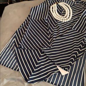 Tops - Blue & White Stripe Top 😃☺️